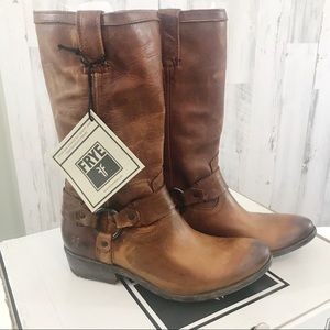 Frye Carson Brown Cowboy Western Boots Size 7.5